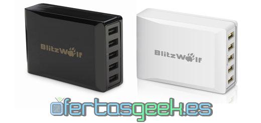 oferta cargador USB BlitzWolf 40 W