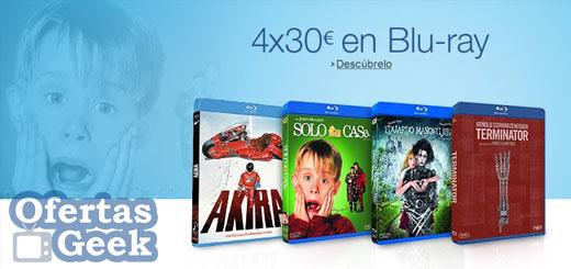 4 blu ray por 30 euros oferta promocion rebaja